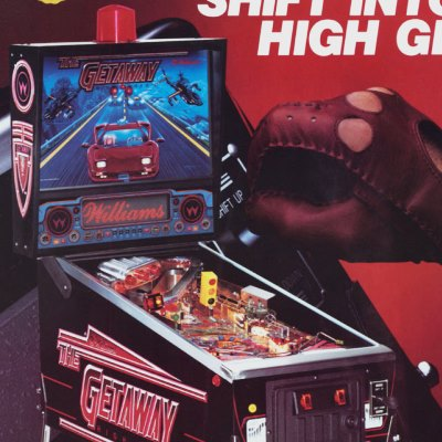 williams, the getaway high speed II, pinball, sales, price, date, city, condition, auction, ebay, private sale, retail sale, pinball machine, pinball price