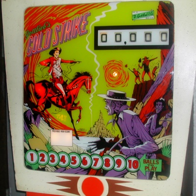 gottlieb, gold strike, pinball, sales, price, date, city, condition, auction, ebay, private sale, retail sale, pinball machine, pinball price