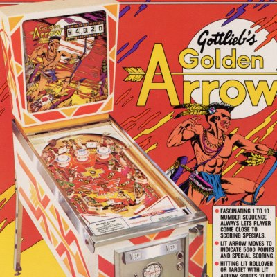 gottlieb, golden arrow, pinball, sales, price, date, city, condition, auction, ebay, private sale, retail sale, pinball machine, pinball price