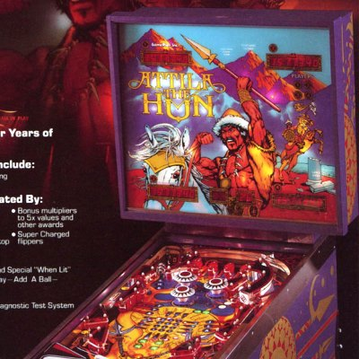 game plan, attila the hun, pinball, sales, price, date, city, condition, auction, ebay, private sale, retail sale, pinball machine, pinball price