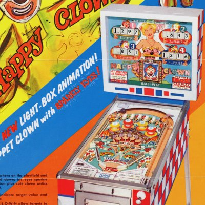 gottlieb, happy clown, pinball, sales, price, date, city, condition, auction, ebay, private sale, retail sale, pinball machine, pinball price