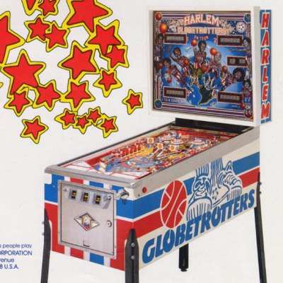 bally, harlem globetrotters on tour, pinball, sales, price, date, city, condition, auction, ebay, private sale, retail sale, pinball machine, pinball price