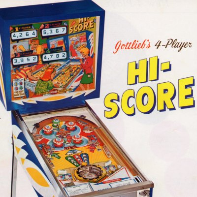 gottlieb, hi score, pinball, sales, price, date, city, condition, auction, ebay, private sale, retail sale, pinball machine, pinball price