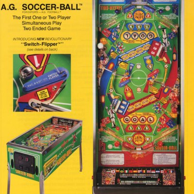 alvin g, soccer-ball, pinball, sales, price, date, city, condition, auction, ebay, private sale, retail sale, pinball machine, pinball price