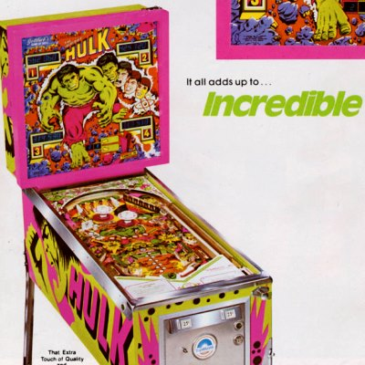 gottlieb, the incredible hulk, pinball, sales, price, date, city, condition, auction, ebay, private sale, retail sale, pinball machine, pinball price