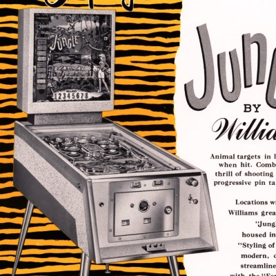 williams, jungle, pinball, sales, price, date, city, condition, auction, ebay, private sale, retail sale, pinball machine, pinball price