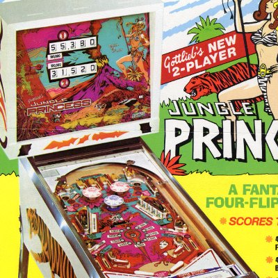 gottlieb, jungle princess, pinball, sales, price, date, city, condition, auction, ebay, private sale, retail sale, pinball machine, pinball price