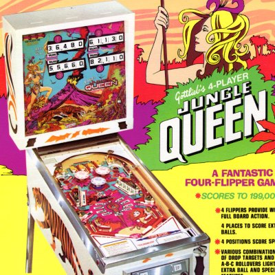gottlieb, jungle queen, pinball, sales, price, date, city, condition, auction, ebay, private sale, retail sale, pinball machine, pinball price
