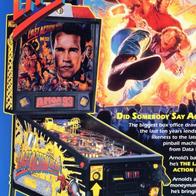 data east, last aAction hero, pinball, sales, price, date, city, condition, auction, ebay, private sale, retail sale, pinball machine, pinball price