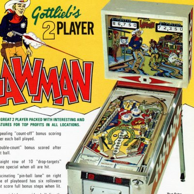 gottlieb, lawman, pinball, sales, price, date, city, condition, auction, ebay, private sale, retail sale, pinball machine, pinball price