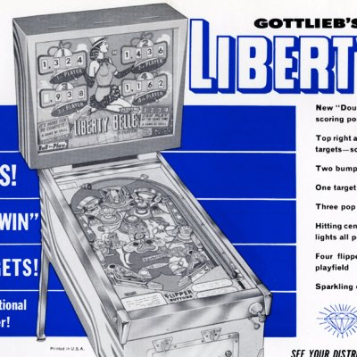 gottlieb, liberty belle, pinball, sales, price, date, city, condition, auction, ebay, private sale, retail sale, pinball machine, pinball price