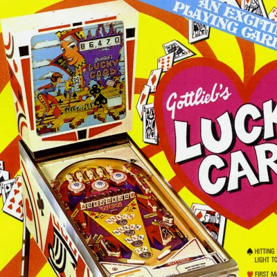 gottlieb, lucky card, pinball, sales, price, date, city, condition, auction, ebay, private sale, retail sale, pinball machine, pinball price