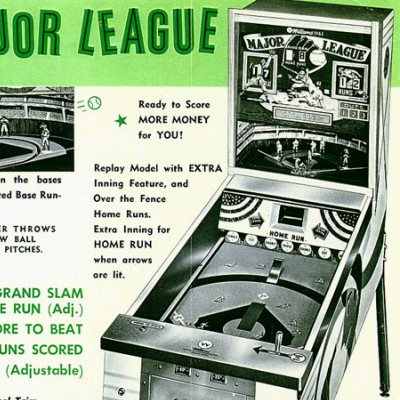 williams, 1963 major league, pinball, sales, price, date, city, condition, auction, ebay, private sale, retail sale, pinball machine, pinball price