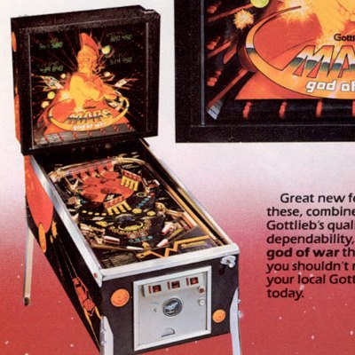 gottlieb, mars god of war, pinball, sales, price, date, city, condition, auction, ebay, private sale, retail sale, pinball machine, pinball price