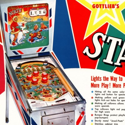 gottlieb, north star, pinball, sales, price, date, city, condition, auction, ebay, private sale, retail sale, pinball machine, pinball price