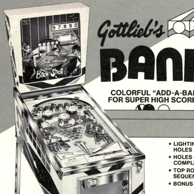 gottlieb, bank shot, pinball, sales, price, date, city, condition, auction, ebay, private sale, retail sale, pinball machine, pinball price