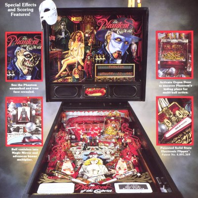 data east, phantom of the opera, pinball, sales, price, date, city, condition, auction, ebay, private sale, retail sale, pinball machine, pinball price
