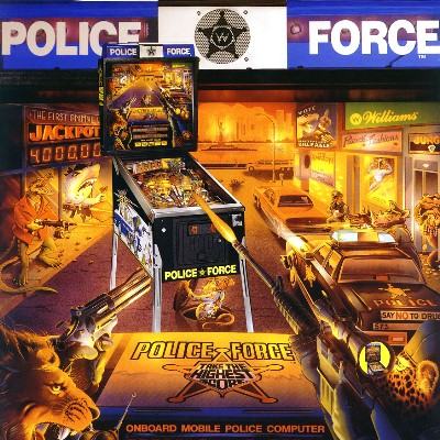 williams, police force, pinball, sales, price, date, city, condition, auction, ebay, private sale, retail sale, pinball machine, pinball price