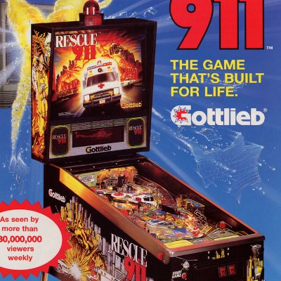 gottlieb, rescue 911, pinball, sales, price, date, city, condition, auction, ebay, private sale, retail sale, pinball machine, pinball price
