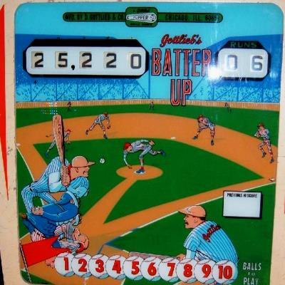 gottlieb, batter up, pinball, sales, price, date, city, condition, auction, ebay, private sale, retail sale, pinball machine, pinball price