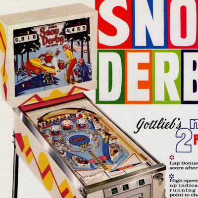 gottlieb, snow derby, pinball, sales, price, date, city, condition, auction, ebay, private sale, retail sale, pinball machine, pinball price