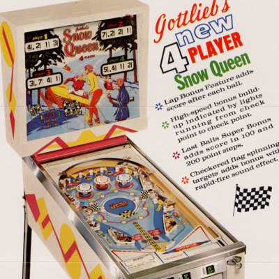 gottlieb, snow queen, pinball, sales, price, date, city, condition, auction, ebay, private sale, retail sale, pinball machine, pinball price