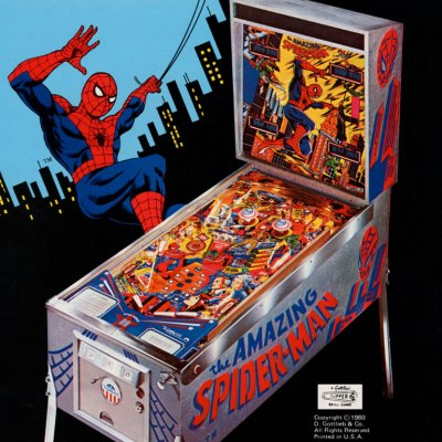 gottlieb, the amazing spider-man, pinball, sales, price, date, city, condition, auction, ebay, private sale, retail sale, pinball machine, pinball price