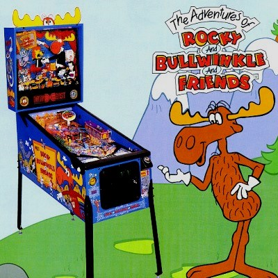 data east, adventures of rocky and bullwinkle and friends, pinball, sales, price, date, city, condition, auction, ebay, private sale, retail sale, pinball machine, pinball price