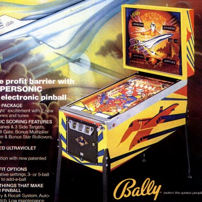 bally, supersonic, pinball, sales, price, date, city, condition, auction, ebay, private sale, retail sale, pinball machine, pinball price