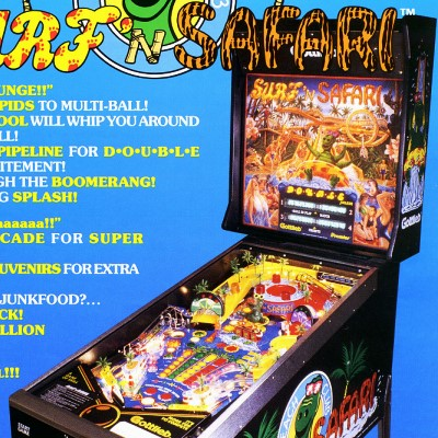 gottlieb, surf n safari, pinball, sales, price, date, city, condition, auction, ebay, private sale, retail sale, pinball machine, pinball price