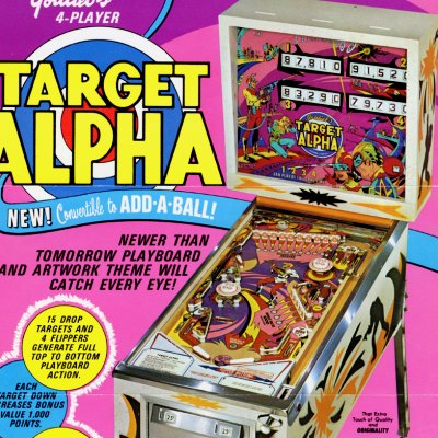 gottlieb, target alpha, pinball, sales, price, date, city, condition, auction, ebay, private sale, retail sale, pinball machine, pinball price