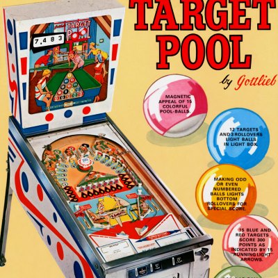 gottlieb, target pool, pinball, sales, price, date, city, condition, auction, ebay, private sale, retail sale, pinball machine, pinball price