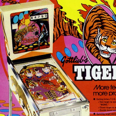 gottlieb, tiger, pinball, sales, price, date, city, condition, auction, ebay, private sale, retail sale, pinball machine, pinball price