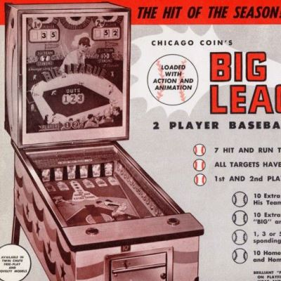 chicago coin, big league, pinball, sales, price, date, city, condition, auction, ebay, private sale, retail sale, pinball machine, pinball price