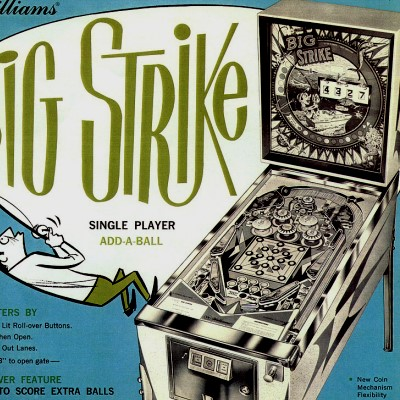 bally, big strike, pinball, sales, price, date, city, condition, auction, ebay, private sale, retail sale, pinball machine, pinball price