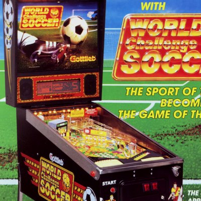 gottlieb, world challenge soccer, pinball, sales, price, date, city, condition, auction, ebay, private sale, retail sale, pinball machine, pinball price