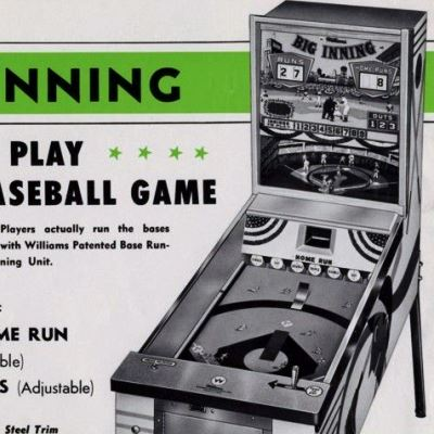 williams, big inning baseball, pinball, sales, price, date, city, condition, auction, ebay, private sale, retail sale, pinball machine, pinball price