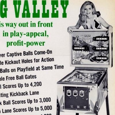 bally, big valley, pinball, sales, price, date, city, condition, auction, ebay, private sale, retail sale, pinball machine, pinball price