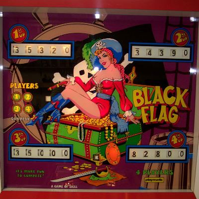 playmatic, black flag, pinball, sales, price, date, city, condition, auction, ebay, private sale, retail sale, pinball machine, pinball price