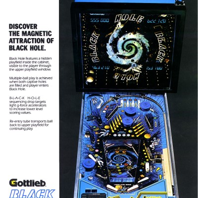 gottlieb, black hole, pinball, sales, price, date, city, condition, auction, ebay, private sale, retail sale, pinball machine, pinball price