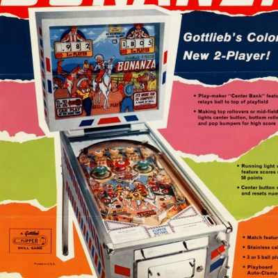 gottlieb, bonanza, pinball, sales, price, date, city, condition, auction, ebay, private sale, retail sale, pinball machine, pinball price