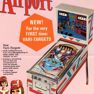gottlieb, airport, pinball, sales, price, date, city, condition, auction, ebay, private sale, retail sale, pinball machine, pinball price