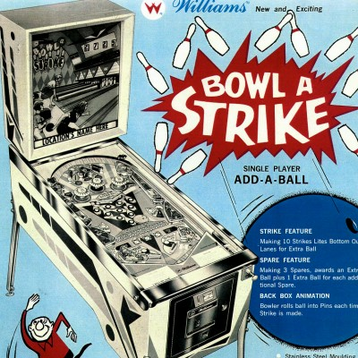 williams, bowl a strike, pinball, sales, price, date, city, condition, auction, ebay, private sale, retail sale, pinball machine, pinball price