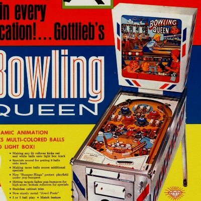 gottlieb, bowling queen, pinball, sales, price, date, city, condition, auction, ebay, private sale, retail sale, pinball machine, pinball price