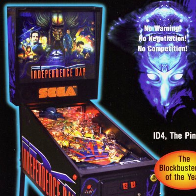 sega, independence day, pinball, sales, price, date, city, condition, auction, ebay, private sale, retail sale, pinball machine, pinball price