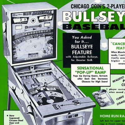 chicago coin, bullseye baseball, pinball, sales, price, date, city, condition, auction, ebay, private sale, retail sale, pinball machine, pinball price