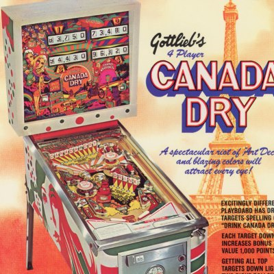 gottlieb, canada dry, pinball, sales, price, date, city, condition, auction, ebay, private sale, retail sale, pinball machine, pinball price