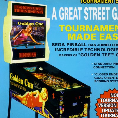 sega, golden cue, pinball, sales, price, date, city, condition, auction, ebay, private sale, retail sale, pinball machine, pinball price