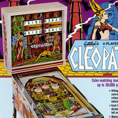 gottlieb, cleopatra, pinball, sales, price, date, city, condition, auction, ebay, private sale, retail sale, pinball machine, pinball price