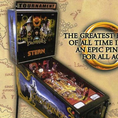 stern, the lord of the rings, pinball, sales, price, date, city, condition, auction, ebay, private sale, retail sale, pinball machine, pinball price
